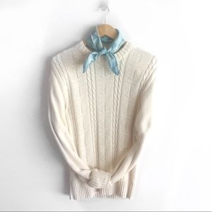 Feelin' Knotty Summer Cable Sweater, vintage crew